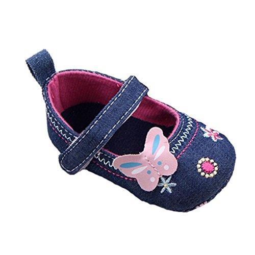 BZLine® Baby Schuhe Schmetterling weiche Sohle Kleinkind Schuhe Blau