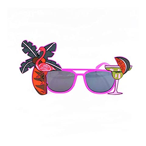 Tinksky Luau partie approvisionnement lunettes de soleil Hawaii thème photomaton les accessoires (couleur aléatoire)