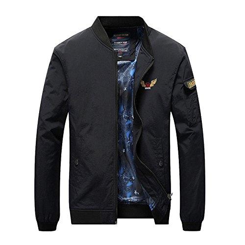 n Stand-Kragen Passform jacke Farbe militärischen Wind Jacket wilden Flug Bekleidung winter Jacke, schwarz, XL (Baby-militärischen Outfits)