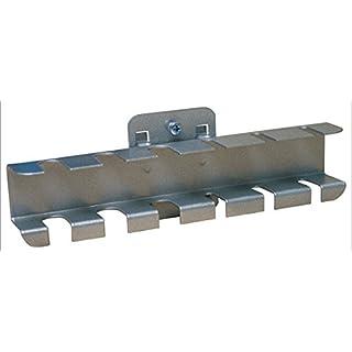 ADB Schraubendreherhalter für 6 · 12 Schraubendreher RAL 9005 · 9006, Farbe (RAL):Weißaluminium (RAL 9006);Ausführung:f. 12 Schraubendreher