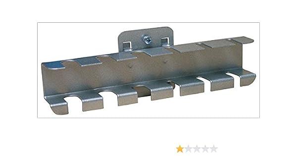 ADB Werkzeughalter Lochwandhaken doppelt mit schr/ägem Hakenende 75 mm RAL 9006