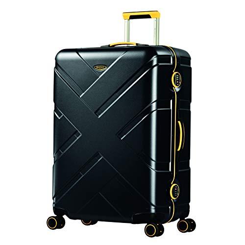 Eminent Crossover, Unisex-Erwachsene Koffer Schwarz schwarz/gelb L
