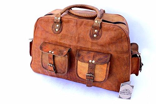 shakun-leather-handmade-new-vintage-travel-duffel-shoulder-gym-weekend-bag-new