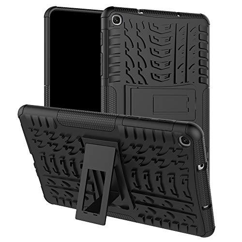 HoYiXi Samsung Galaxy Tab A 8.0 2019 Tablette Hülle Stoßfeste Doppelte Schutzhülle mit Ständer Anti-Drop Cover Case für Samsung Galaxy Tab A 8.0 SM-P200/SM-P205 (2019) - schwarz