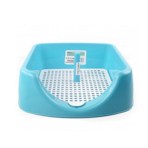 Haustier Potty Puppy WC, Hohe Qualität Praktische Hund Innen Toilette Durable Pet Training WC Abnehmbare Pet Toilet Zaun Potty Trainer (Farbe : #2, Größe : M) (Indoor Puppy Potty)