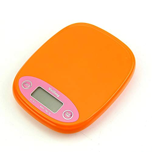 ZHANGYUGE S-Home Maßstab Küche Digitale 7 Kg/1 G Diät Lebensmittel Post Gewicht Balance G Lb Hintergrundbeleuchtung, Orange