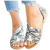 Übergroßer Sandalen für Damen/Dorical Frauen Sommer Retro-Peep-Toe-Sandalen mit seitlicher Abdeckung Damenschuhe Mode einfache PU-Leder Schuhe rutschfest 35-43 EU Ausverkauf(Dunkelgrau,38 EU)