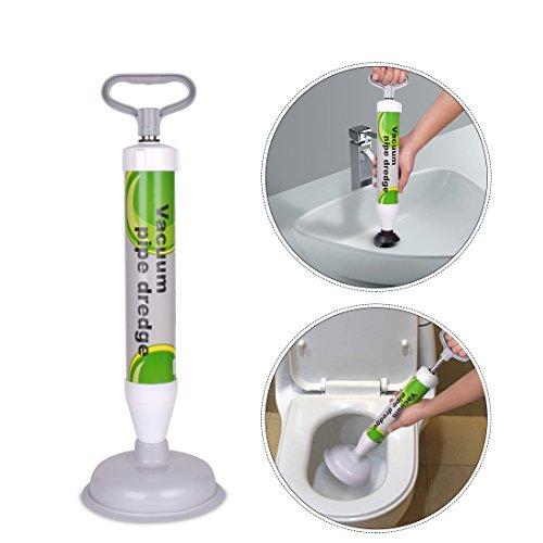 Abflußreiniger XREXS Toiletten-Luftstößel – leistungsstarker Abfluss-Kolben mit 2 Art Saugnäpfen, Multifunktionale Reinigungspumpe verwendbar für Toilette, Badewanne, Dusche, Wanne
