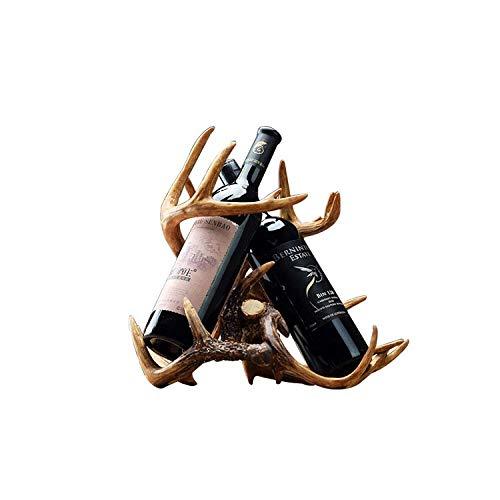 Weinschrank Dekoration Schmuck Wohnzimmer Kreative Moderne Weinflaschenhalter Individualität Geweih Weinregal Geschenk,Holz Größe: 35 * 23 * 32cm - Aus Ziel Weinregal