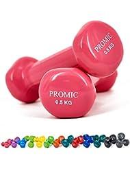 Promic 0,5 kg – 10 kg pesas de mano deluxe, sólido, con