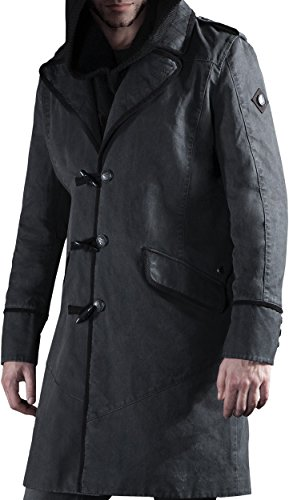 Musterbrand-Assassins-Creed-Trench-Coat-Herren-Jacobs-Jacke-Grau