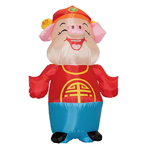 Deanyi Cochon Mignon Forme Gonflable Costume Créatif Halloween Noël Cosplay  Costume Carnival Party Vêtements Performance Sans
