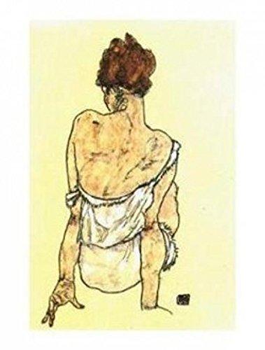 1art1 35543 Egon Schiele - Zittende Vrouw, Op The Rug Gezien Poster Kunstdruck 50 x 40 cm