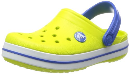 crocs Crocband Kids Unisex-Kinder Clogs, Orange (Citrus/Sea Blue 71O), 22/24 EU (Jungen Crocs Kleinkind)