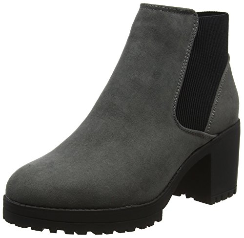 Ballet Boot (New Look Damen Column Chelsea Boots, Grey (Mid Grey), 39 EU)
