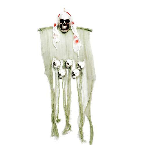 Familien Kostüm Lustige Themen - Tragbare Halloween Hängen Dekor Scary Pirates Corpse Schädel Haunted Decor für Haus Bar Hausgarten Party Indoor Urlaub 47,2X17,7 zoll