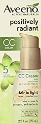 Aveeno Positively Radiant CC Cream SPF30 Fair to Light Moisturizer, 2. 5 Oz