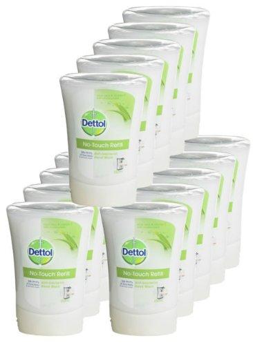 Dettol No Touch Lot de 15 recharges de savon antibactérien pour distributeurs automatiques Tue 99,9 % des bactéries 250 ml