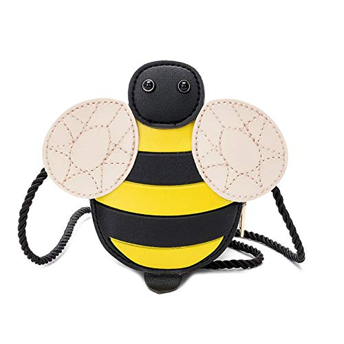 Biene Messenger (Sruma - Mode der neuen Marken-Mädchen kleine Nette Messenger Bags Insect Animal Prints Marienkäfer-Bienen-Entwurf Umhängetaschen Täschchen Schultertasche Bee [])