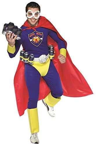 Hero Mann Junggesellenabschied Abend Party lustig Komödie Oktoberfest Superheld Kostüm Kleid Outfit (Superhelden Outfits Für Männer)