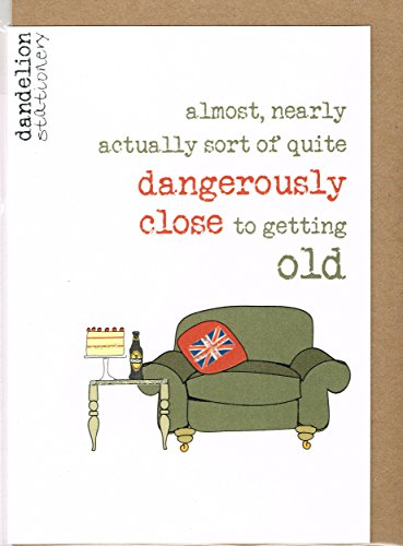 Getting Old Sparkle Finished Birthday Card By Dandelion Stationery Cards