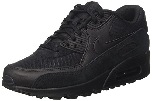 Nike Damen Air Max 90 Sneaker, Schwarz (Black/Black-Black), 43 EU (Stiefel Nike Sneaker)