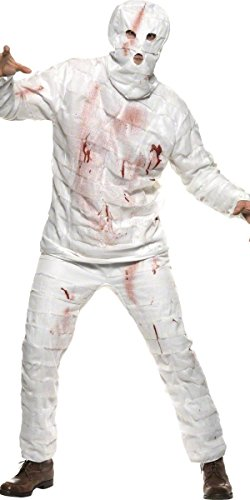 sching Erwachsene Ägyptische Mumie Horror Smiffys * 17120, Mehrfarbig Einheitsgröße (Halloween Kostüme Mumie)