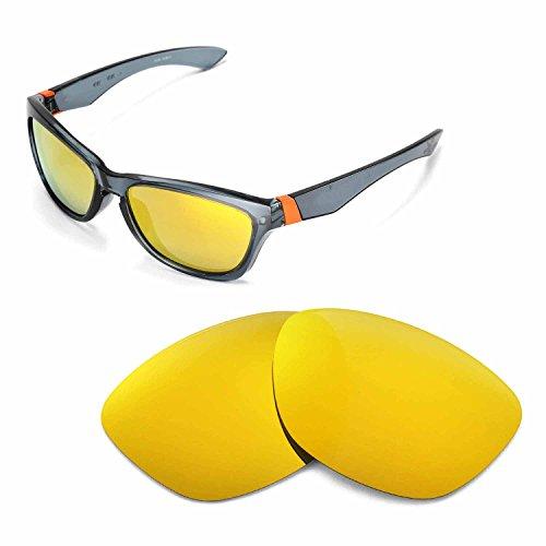 Walleva Ersatzgläser für Oakley Jupiter Sonnenbrille - Mehrfache Optionen (24K Gold Mirror Coated - Polarisiert)