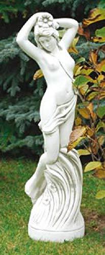Defi Deko- und Figurenhandel Akt schüchtern/weiß mit Schattierungen (S587), Gartenfigur aus Steinguss, Höhe: 84 cm, Gewicht: 25 kg