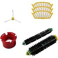 Malloom® 1 Cepillos laterales + 1 par de rodillos + 3x filtrar +1x Útiles de limpieza, Aspiradora Kit de Repuesto para serie Irobot Roomba 500