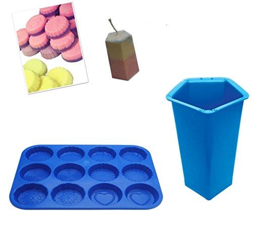 Proops Schnitzmesser-Set 2, Pentagon Stumpenkerze Schimmel und Wax Melt Tart, Seife, Bath Bomb Form Tablett, Swirl, Blume etc. (s7753) versandkostenfrei innerhalb UK -