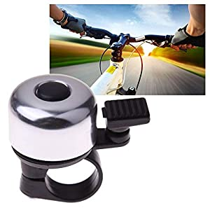 3 x bicycle bells - Fine-toned's CLASSIC 1 touch ping- Loud & Clear sound - ALUMINUM ALLOY- 1 BLACK, 1 SILVER, 1 GOLD - perfect for Mountain Bike, Scooter, Ebike, Tricycle, MTB, BMX, Electric Bike