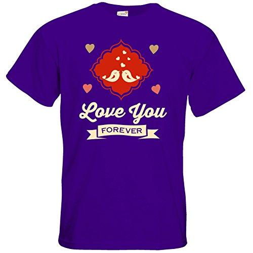 getshirts - RAHMENLOS® Geschenke - T-Shirt - Valentinstag Valentine forever Purple