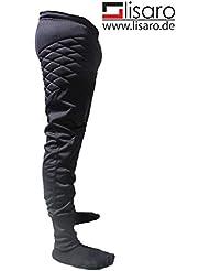 Pantalón de portero Lisaro de poliéster–con acolchado especial–Talla 128hasta XXL, color  - negro, tamaño 15 años (164 cm)