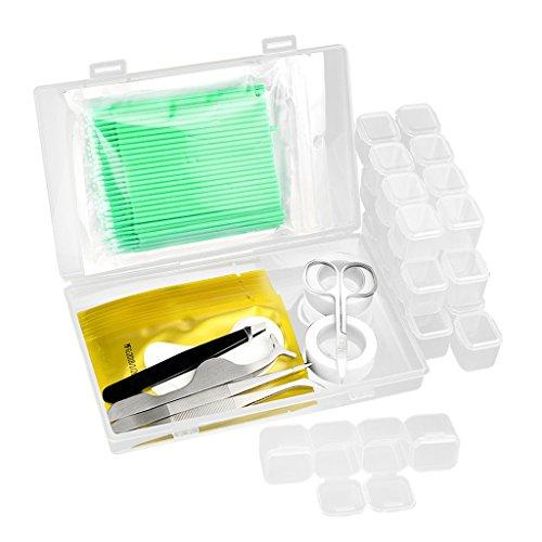MagiDeal Kit Professionnel Extensions de Cils Convivial pour Beauté - Vert