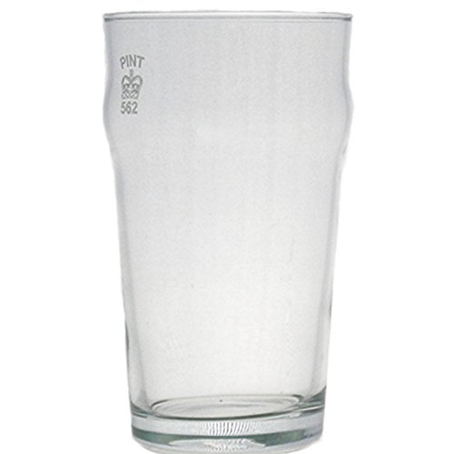 Juego de 4 vasos Nonic de 1/2 pinta con sello de la corona