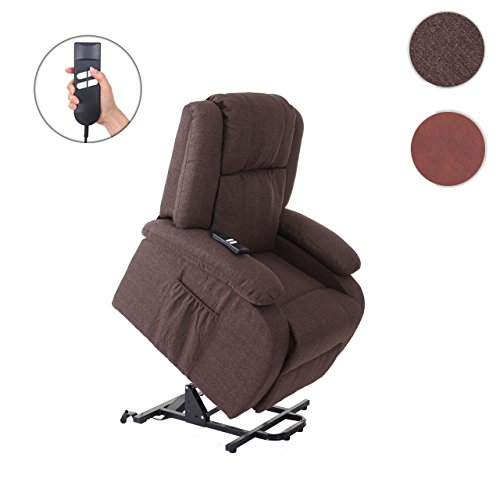 Mendler Fernsehsessel Lincoln, Relaxsessel Sessel, 2 Elektromotoren, Aufstehhilfe, Stoff/Textil ~ Wildlederimitat