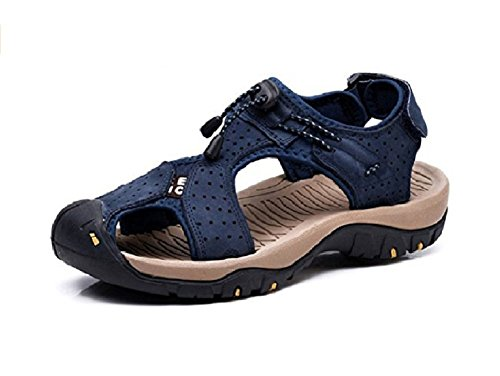 Hafiot uomo sandali pelle sportivi escursionismo estivi antinfortunistica pescatore trekking antiscivolo mare spiaggia morbido scarpe nero marroni 38-47 bl44