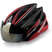 Basecamp Casco de ciclismo con gafas Ultralight Casco de seguridad para el transporte Casco de seguridad