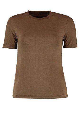 Kaki Femmes Layla T-shirt Col Ras Du Cou Kaki