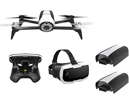 Parrot-Pack-Drone-Quadricoptre-Bebop-2-Lunette-FPV-Skycontroller-2-2-Extra-Batteries-BlancNoir-Exclusivit-Amazon