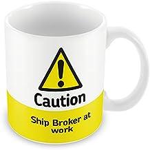 Precaución barco intermediario en el trabajo taza 346