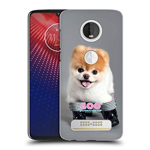 Head Case Designs Ufficiale Boo-The World's Cutest Dog Stivali Primi Piani Cover Dura per Parte Posteriore Compatibile con Moto Z4 / Z4 Play / Z4 Fo