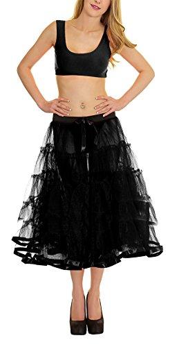 men 5 Tier Petticoat Mit Band Tutu Rock Womens Party Tragen Fancy Rock Schwarz One Size ()