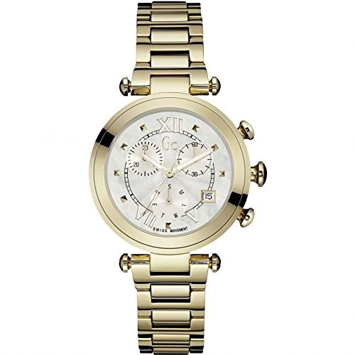 GUESS COLLECTION WOMEN'S LADY CHIC GOLD PLATED BRACELET QUARTZ WATCH Y05008M1