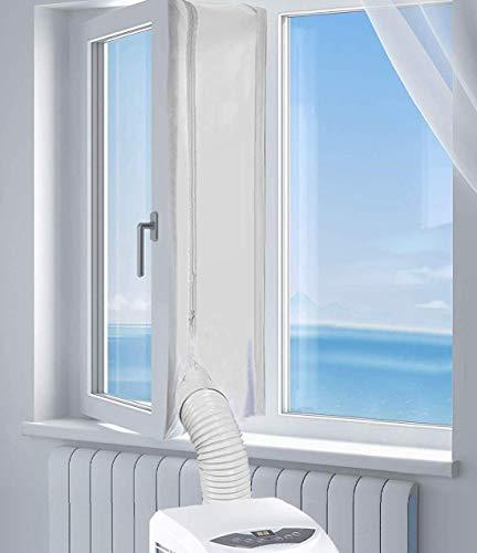 Sinwind Fensterabdichtung für Mobile Klimageräte, Klimaanlagen, Wäschetrockner und Ablufttrockner AirLock zum Anbringen an Fenster, Dachfenster, Flügelfenster Fensterabdichtung Klimaanlage 400CM -