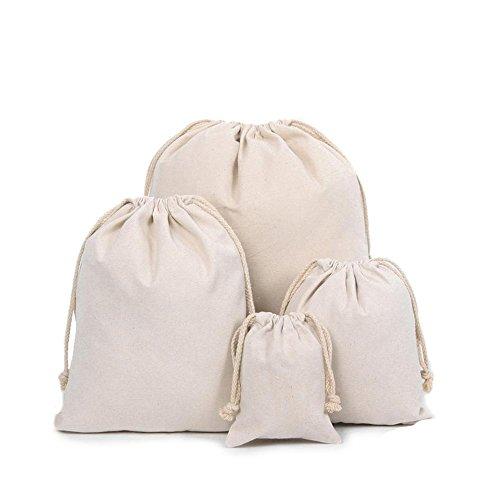 Z-synka Bio-Baumwoll-Musselin-Beutel, biologisch abbaubar, umweltfreundliche Taschen, Reisetasche, Beutelbeutel, Haus- und Gemüseaufbewahrung, Leinentasche, Baumwolltasche, X Large (16x20