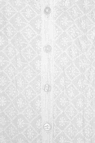 Roman Originals Damen Knitter Baumwolle Bluse Weiss Sommer Abend lassig hell hubsch Sommerurlaub Weiß