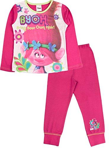 Lora Dora Girls Trolls Pyjamas 2 Piece PJS Set Kids Size UK 4-10 Years