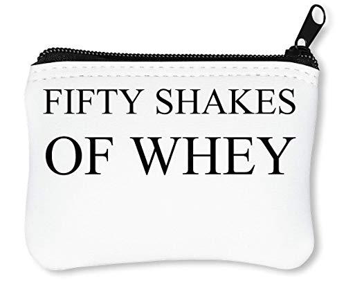 Fifty Shakes of Whey Reißverschluss-Geldbörse Brieftasche Geldbörse